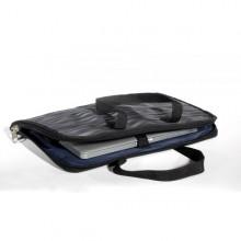 Laptop Tasche, dkl-grau aus Sicherheitsgurten (S)