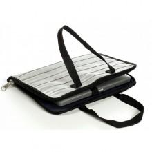 Laptop Tasche, grau recycelter Sicherheitsgurt (S)