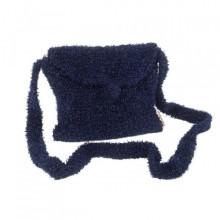 Mademoiselle | marineblaue Handtasche aus Wolle