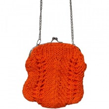 Madhu | kleine orange Geldbörse mit Kette