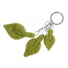 Feuille   Blatt   Schlüsselanhänger   grüne Wolle