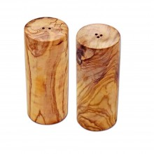 Salzstreuer und Pfefferstreuer TURM aus Olivenholz, einzeln oder im Set