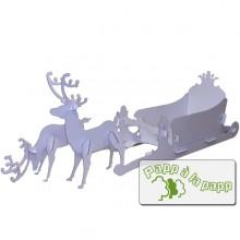 Weihnachtsdeko – Rentiere mit Schlitten aus Pappe