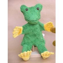 Handpuppe Frosch mit Beinen – vegan – Kallisto