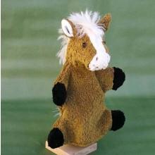 Handpuppe Pferd aus Bio-Baumwolle