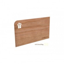 Geschenkkarte aus Holz