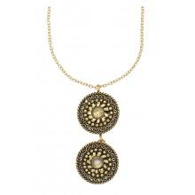 Taja Disk Necklace Brass - Kette aus Messing, fair trade produziert