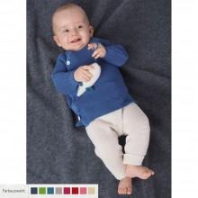 Gestrickte Baby Uni Leggings aus Bio-Wolle