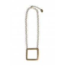 Square Necklace Brass – Messing Halskette Square