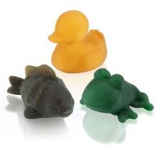 Hevea Pond Trio farbig – Öko Badespielzeug im Geschenkset