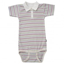 Popolini Polo Baby Body GOTS multicolour