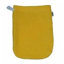 Popolini Baby Waschhandschuh Bio Baumwolle gelb