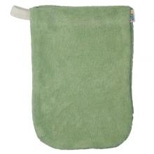 Popolini Baby Waschhandschuh Bio Baumwolle grün
