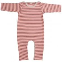 Roter Öko Baby Overall ohne Fuß aus Bio-Baumwolle