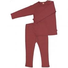 Mädchen Schlafanzug in pink-grau aus Bio-Baumwolle