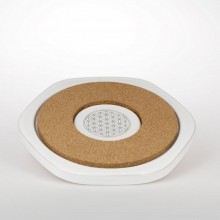 Untersetzer Cork Energy Hot Plate, Lebensblume platin