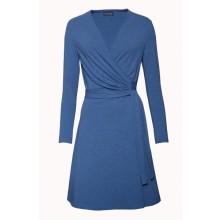Klassisches Wickelkleid in Jeansblau