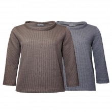 Bio Baumwoll-Pullover im Stil der 60er, Strickoptik