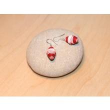 Ohrringe Erdbeere aus Öko Papier
