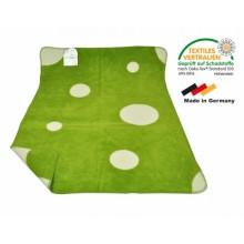 ASMi Babydecke Bio-Baumwolle Topfen/Hopfen grün