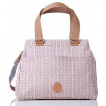 PacaPod Richmond Dusty Pink Herringbone – Wickeltasche & Handtasche