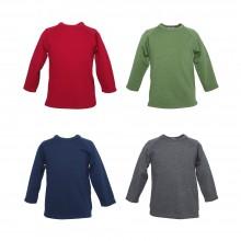 Uni Kinder Langarmshirt, kbT-Wolle & Seide