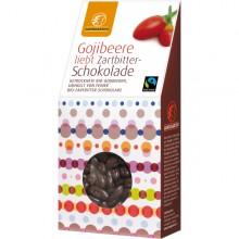 Gojibeere liebt Zartbitterschokolade von Landgarten