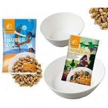 Knabberset Landgarten Knabber-Mix + 2 Schalen