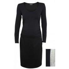 Umstandskleid – Bio Jersey – grau oder schwarz