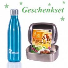 Geschenkset für Globetrotter: Made Sustained Flasche + Lunchbox