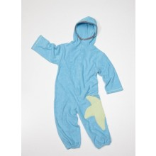 Frotteeoverall blau