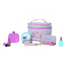 EverEarth Holz Make-Up Set, Schminktasche inkl. Kosmetikaccessoires