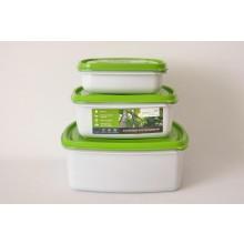 Greenline Frischhaltedosen-Set Quadrat zum Vorteilspreis
