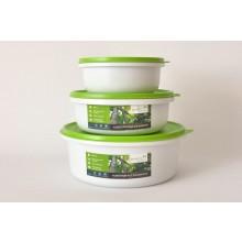 Greenline Frischhaltedosen-Set rund mit Deckel zum Vorteilspreis