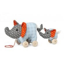 Nachziehspielzeug Elefant Noma mit Baby