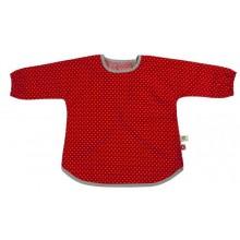 Ärmellätzchen Rot –  Bio-Baumwolle mit Klettverschluss