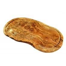 Tranchierbrett aus Olivenholz, mit Saftrille, verschiedene Größen