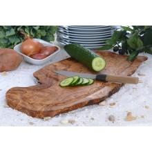 Tranchierbrett & Steakbrett rustikal aus Olivenholz, mit Saftrille, verschiedene Größen