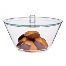 Glas Schüssel GLOBE 1,5 L mit Deckel