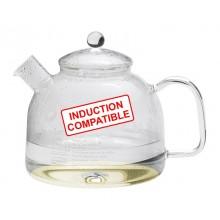 Wasserkocher IN mit Glasdeckel induktionsfähig | Glaskessel 1,75 L