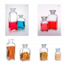 Apothekerflasche eckig klar 100 ml / 250 ml / 500 ml / 800 ml