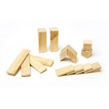 Magnetische Holzblöcke 14-teilig, natur – Einsteiger Bauset