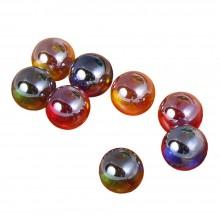 Glaskugeln für Kugelbahn und Tellerturm