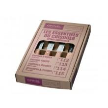 Opinel Küchenmesser-Set, Essentials – 4-teilig
