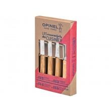 Opinel Küchenmesser Set 4-teilig Les Essentiels Olivenholz-Schälmesserset