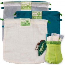 VeggieBag Mini Starter-Kit rePETe™, Netz & Natural – 3er Pack