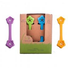 eKibby Lätzchenhalter aus Bioplastik, 2er Pack in verschiedenen Farben