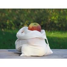 Obst- und Gemüsebeutel 26x36 cm – Naturtasche aus Bio-Baumwolle