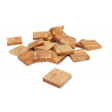 Flache Plättchen aus Olivenholz für DIY oder Deko