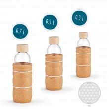 Trinkflasche Zirbe mit Naturkorkhülle 0.3 / 0.5 / 0.7 L